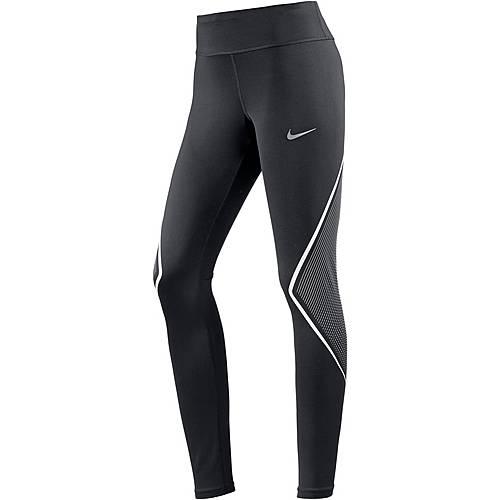 Nike Power Fast Lauftights Damen black-white-reflective silver