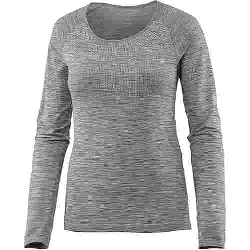 Nike Dri-Fit Knit Laufshirt Damen cool grey-htr