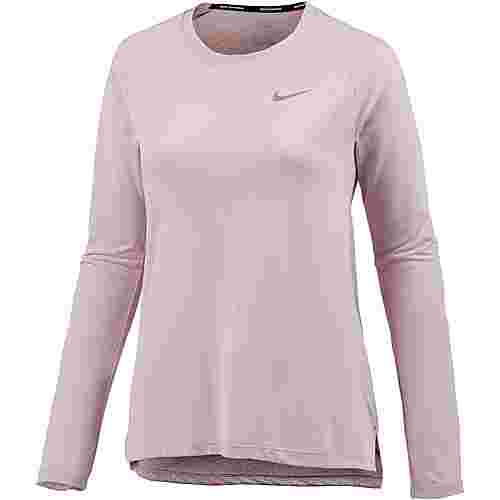 Nike Breathe Tailwind Laufshirt Damen particle rose-reflective silver
