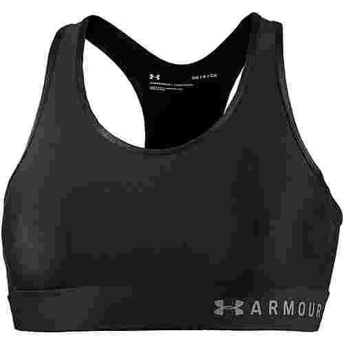 Under Armour Armour Mid Keyhole Sport-BH Damen black-black-metallic silver