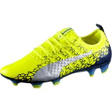 PUMA evoPOWER Vigor 1 GRAPHIC FG Fußballschuhe Herren Safety Yellow-Silver-Blue Depths