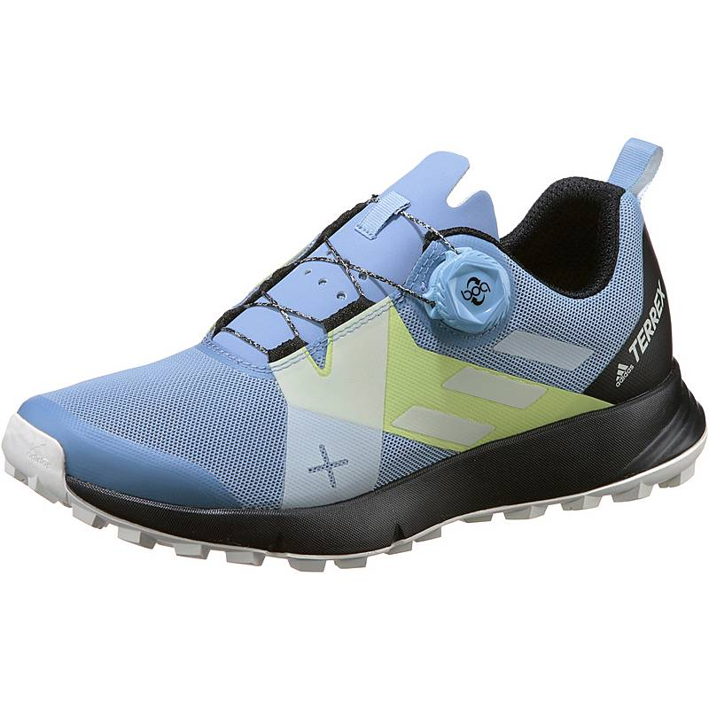 release date de010 ba77b adidas Two Boa Mountain Running Schuhe Damen chalk blue-chalk white-core  black