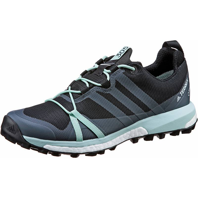 check out c1199 3f38f adidas Agravic GTX Mountain Running Schuhe Damen carbon-grey three-ash green