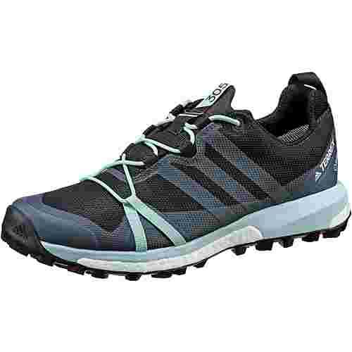 adidas Agravic GTX Mountain Running Schuhe Damen carbon-grey three-ash green