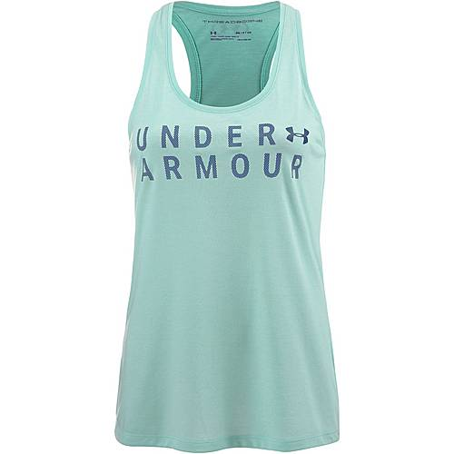 Under Armour Threadborne Train Funktionstank Damen refresh mint-academy-metallic silver