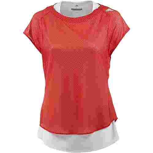 adidas Tokio Laufshirt Damen trace scarlet