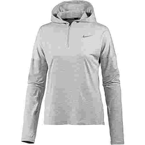 Nike Dry Element Laufhoodie Damen atmosphere grey-heather-reflective silver