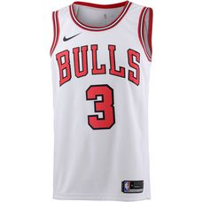 Nike DWYANE WADE CHICAGO BULLS Basketball Trikot Herren white-university red-black