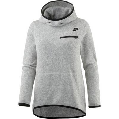Nike Hoodie Damen dark grey heather-black