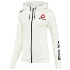 Reebok UFC Fight Night Blank Walkout Hoodie Hoodie Damen Chalk/Black