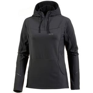 GORE® WEAR R3 Laufhoodie Damen terra grey-black