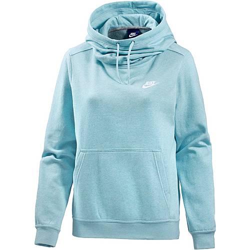 Nike Hoodie Damen ocean bliss-heather-ocean bliss