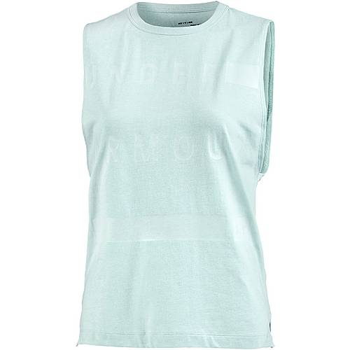 Under Armour Muscle Tanktop Damen refresh mint light heather-white