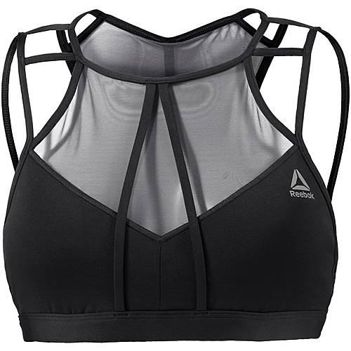 Reebok Franchise Strappy Sport-BH Damen black