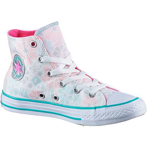 CONVERSE Chuck Taylor All Star Hi Sneaker Kinder white-pink-pow-white