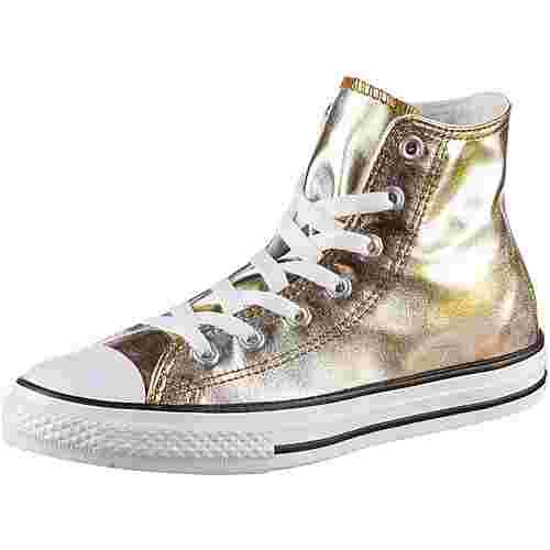 CONVERSE Chuck Taylor All Star Hi Sneaker Kinder silver-gold