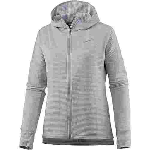 Nike Therma Sphere Element Laufhoodie Damen wolf grey-htr-wolf grey