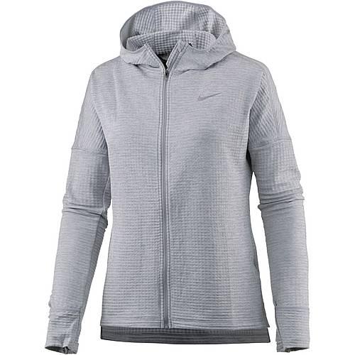Nike Therma Sphere Element Laufhoodie Damen wolf grey-htr-wolf grey