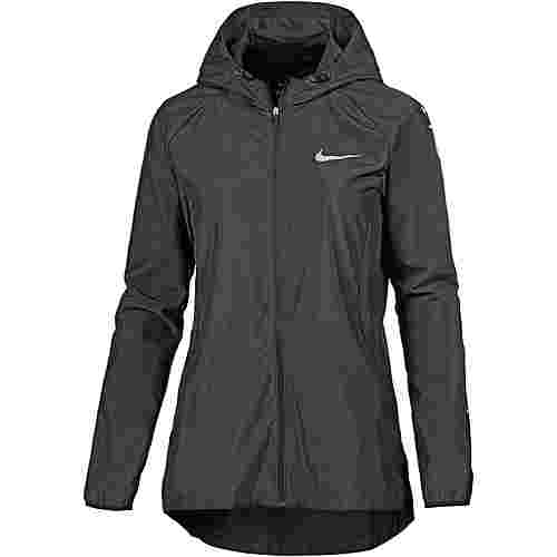 Nike Essential Laufjacke Damen black-wolf grey-reflective silver