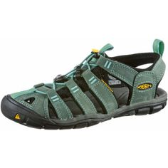 Keen Clearwater CNX Leather Outdoorsandalen Damen mineral blue-yellow