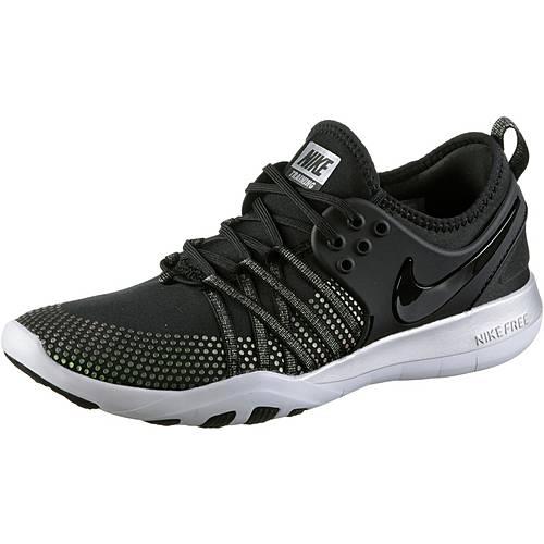 Nike Free TR 7 Fitnessschuhe Damen black-black-pure platinum