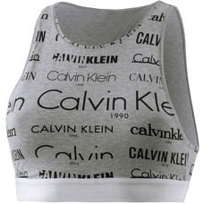 Calvin Klein Bustier Damen heritage logo grey heather black