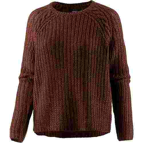 Only Strickpullover Damen cherry mahogany
