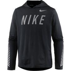 Nike Miler Laufhoodie Herren black