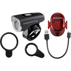 SIGMA ROADSTER USB / NUGGET II Fahrradbeleuchtung black