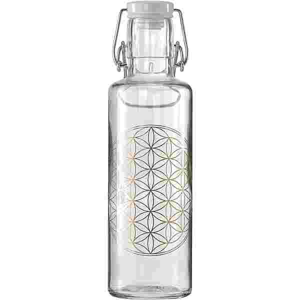 soulbottles Flower of Life Trinkflasche transparent- gold