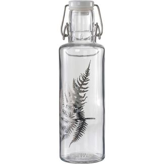 soulbottles Silberfarn Trinkflasche transparent- silber