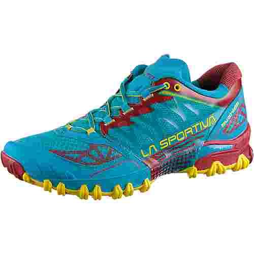 La Sportiva Bushido Mountain Running Schuhe Herren tropic blue-cardinal red