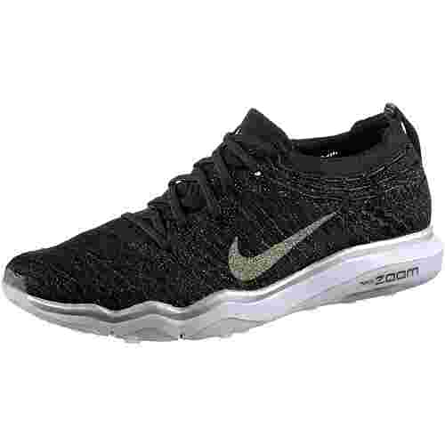 Nike Fitnessschuhe Damen black-dark grey-metallic silver