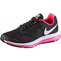 Nike Zoom Windflo Laufschuhe Kinder black-white-racer-pink
