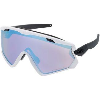 Oakley Wind Jacket 2.0 Sportbrille matte white-prizm sapphire iridium