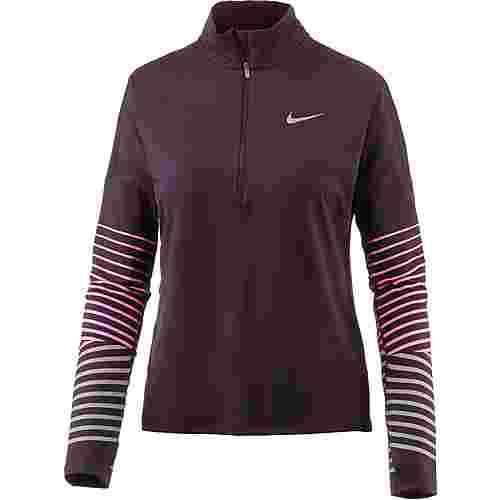 Nike Dry Flash Element Laufshirt Damen port wine-racer pink
