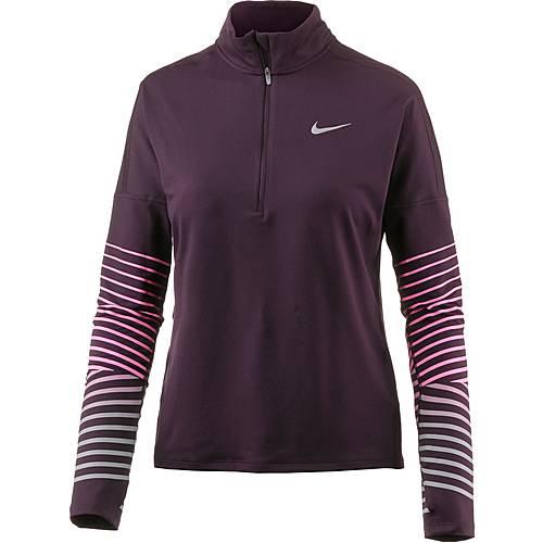 Nike Dry Flash Element Laufshirt Damen port wine-racer pink
