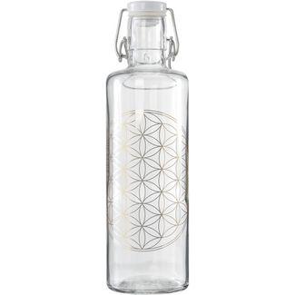 soulbottles Flower of Life Trinkflasche transparent-beige
