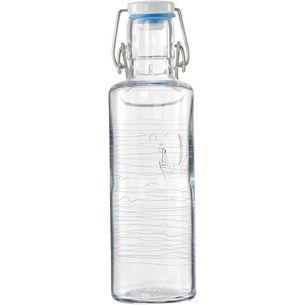soulbottles Heimatwasser Trinkflasche transparent-grau