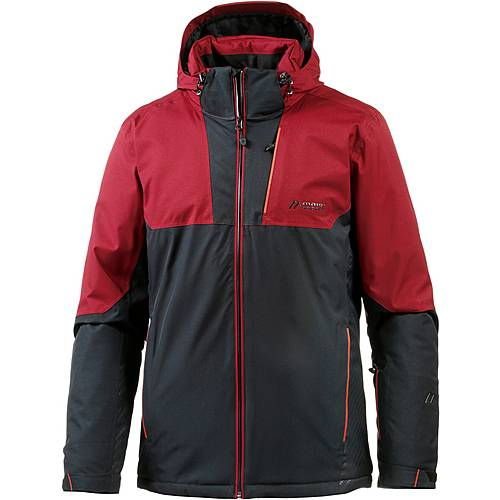 Maier Sports Samedan Skijacke Herren black/red dahlia