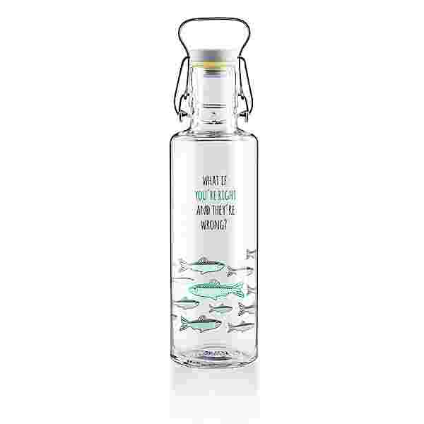 soulbottles You´re right Trinkflasche transparent-blau