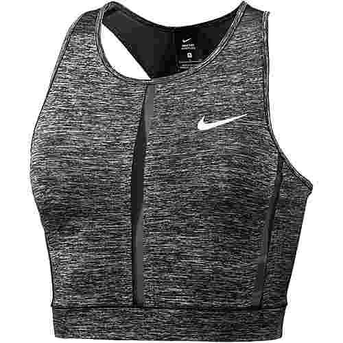 Nike Pro Hypercool Croptop Damen black-heather-black