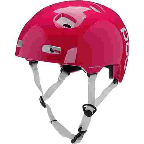 POC Crane Pure Fahrradhelm rhodonite red/hydrogen white
