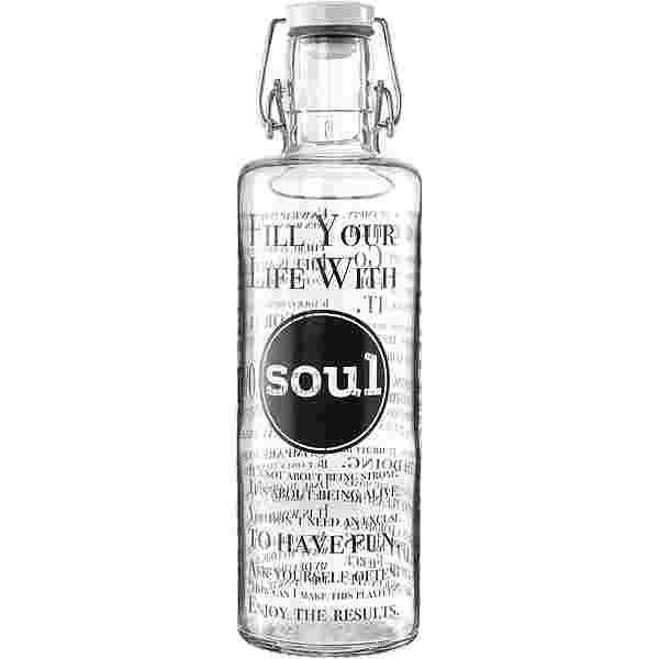 soulbottles Fill your Life with Soul Trinkflasche tranparent-schwarz