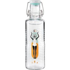 soulbottles Soulsurferin Trinkflasche transparent-orange
