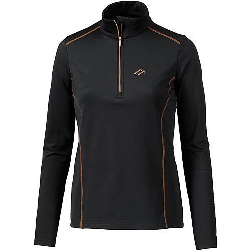 Maier Sports Janetta Funktionsshirt Damen black/copper
