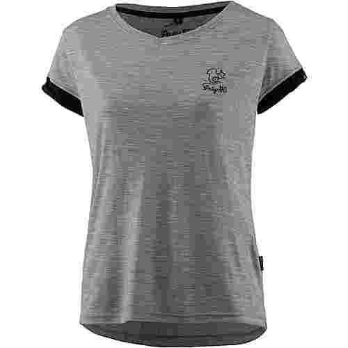 Pally Hi SQUIRRELLINE Funktionsshirt Damen Heather Grey/ Bluek