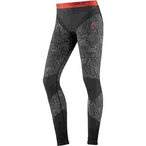 Odlo Blackcomb Evolution WARM Funktionsunterhose Damen black-concrete grey-hot coral