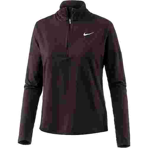 Nike Dry Element Laufshirt Damen port wine-racer pink