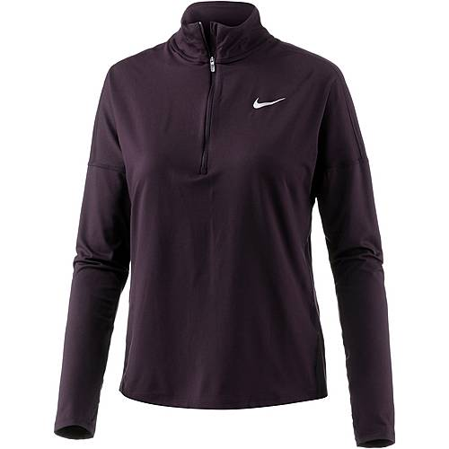 Nike Dry Element Laufshirt Damen port wine-racer pink